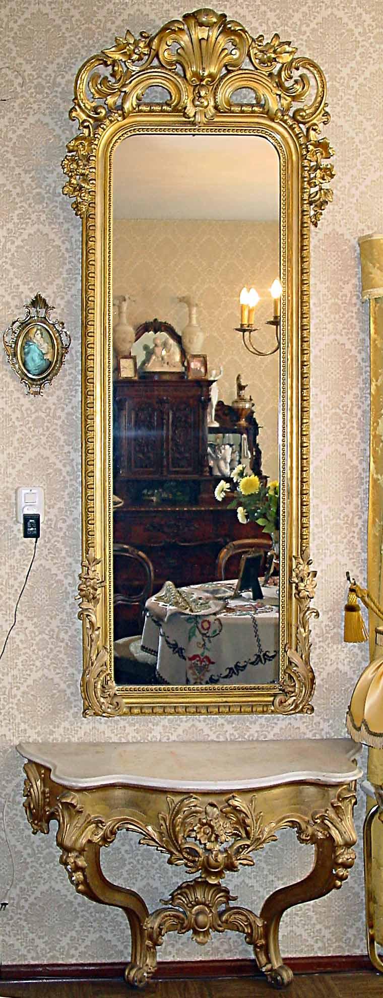 theodor eichberger 1835 1917 bildhauer spiegel und konsole. Black Bedroom Furniture Sets. Home Design Ideas