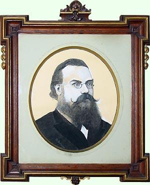 Gemälde eines Mannes mit Vollbart