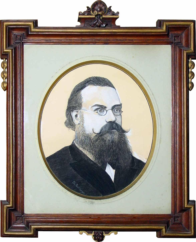 Theodor Eichberger (1835-1917) - Bildhauer: Bilderrahmen: Portrait