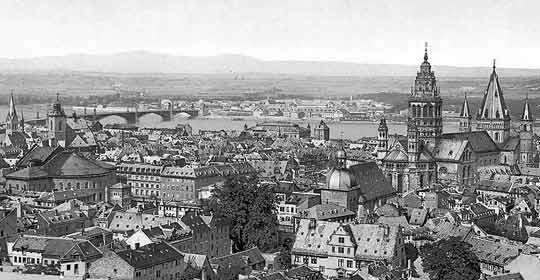 Eine alte Ansicht von Mainz