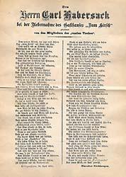 Scan des original-Manuskripts von 'An Sie!'