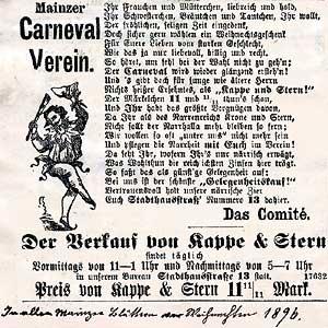 Scan der Werbung für Kappe und Stern 1897