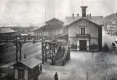 Foto des alten Mainzer Hauptbahnhofs