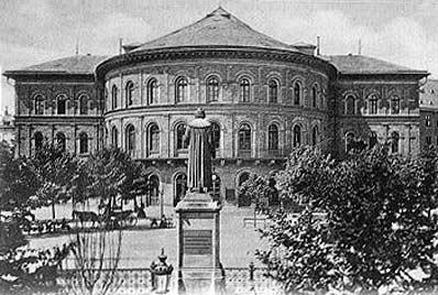 Ausschnitt einer alten Ansichtskarte des Stadttheaters