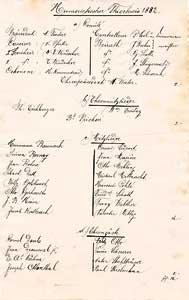 Mitgliederverzeichnis 1882