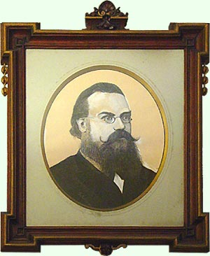 A painting showing a man with beard