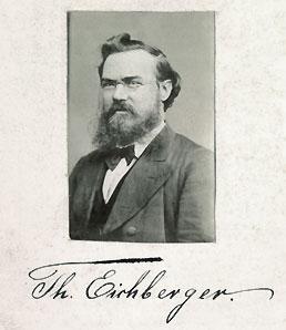 Ein Foto von Theodor Eichberger mit seiner Unterschrift